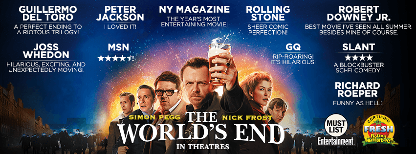 The World's End – Movie Review – A Disappointing End to The Three Flavours Cornetto Trilogy