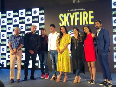 Cast of Skyfire web series at the trailer launch.