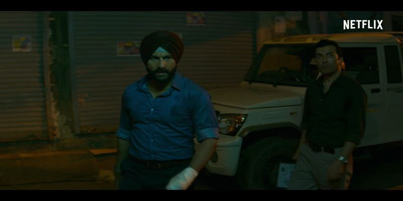 Saif Ali Khan as Inspector Sartaj Singh in Sacred Games 2