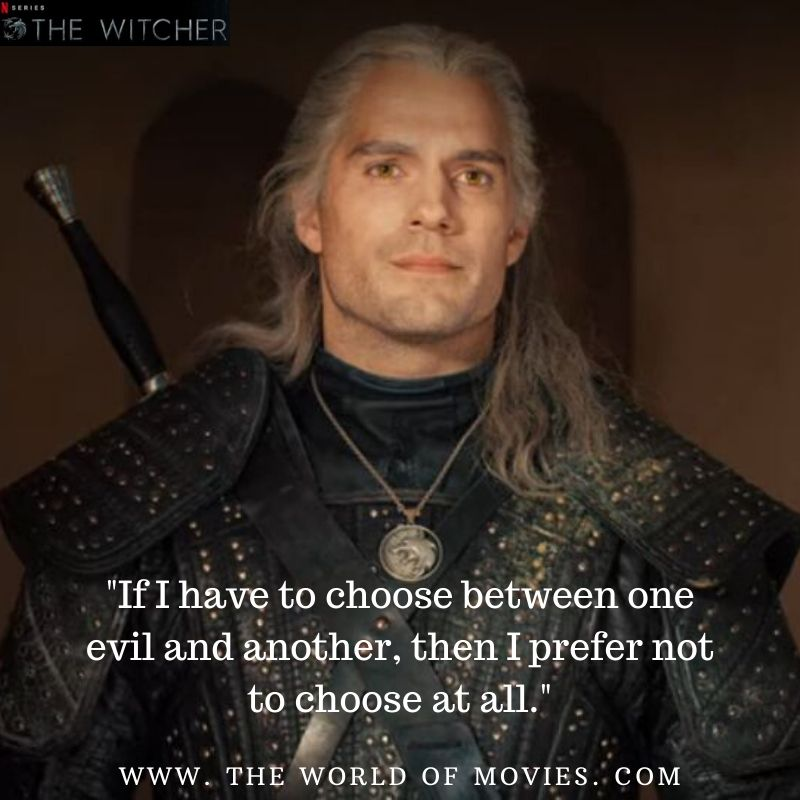 If I have to choose between one evil and another, then I prefer not to choose at all.