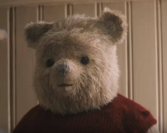 Pooh, a bear with small brain but a big heart steals the show in Christopher Robin 2018 Movie.