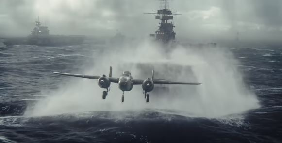 A battle scene from 2019 Movie - Midway