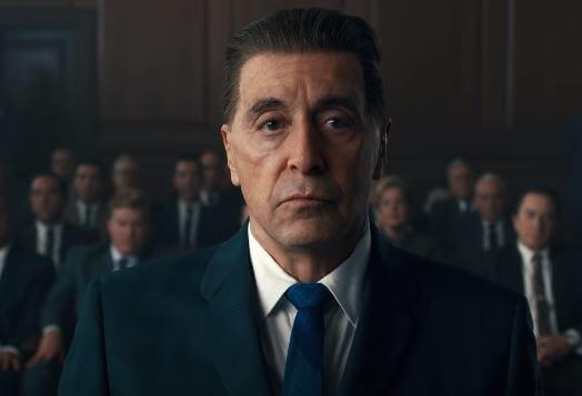 Al Pacino as Jimmy Hoffa revels in The Irishman Movie.