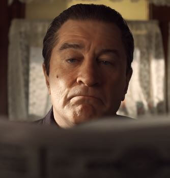 Robert De Niro as Frank Sheeran is timeless in The Irishman Movie