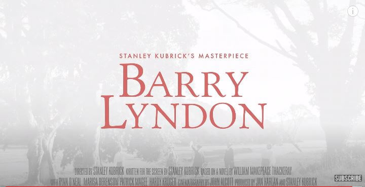 Barry Lyndon 1975 Movie