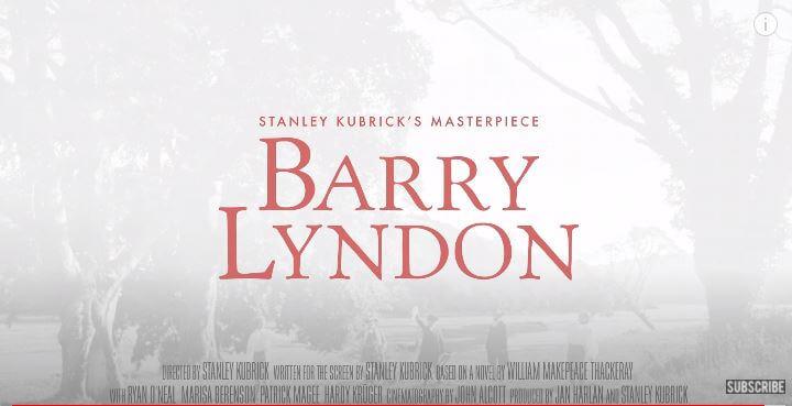 Barry Lyndon 1975 Movie