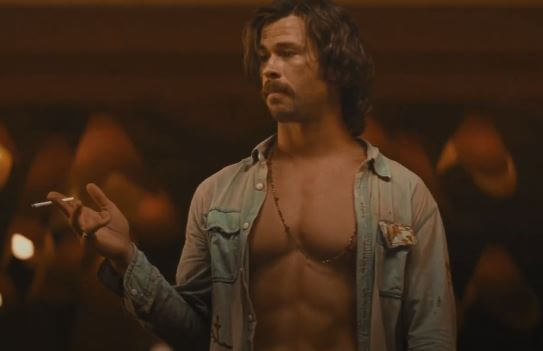 The star of the Bad Times At The El Royale was Chris Hemsworth as the main bad guy.